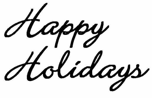 happy holidays white png